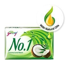 Buy Godrej No. 1 Coconut Neem Soap 115gram online for USD 9.87 at alldesineeds