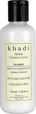 2 X Khadi Lavender Herbal Fairness Lotion Shea Butter & Paraben Free, 210 ml each - alldesineeds