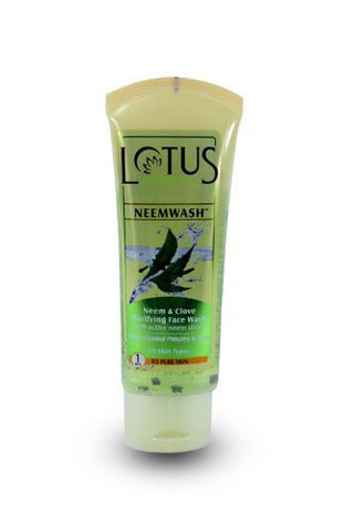 Buy Lotus Herbals Neemwash Neem and Clove Ultra-Purifying Face Wash with Active Neem Slices, 120g online for USD 9.99 at alldesineeds