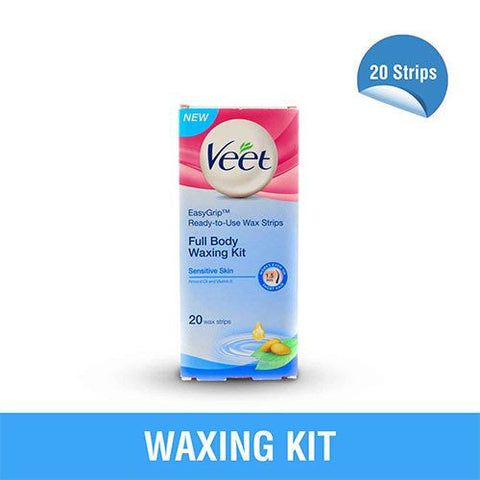 Buy VEET Waxing Kit Full Body - Sensitive 20 Strips online for USD 11.38 at alldesineeds