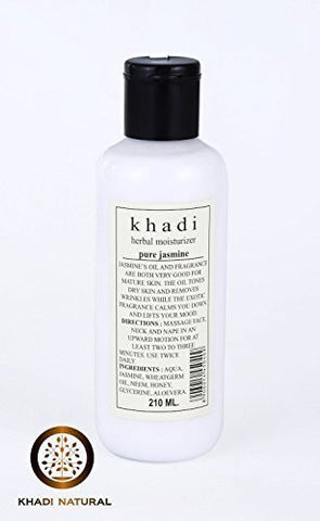 Buy 2 X Khadi Pure Jasmine Moisturizing Lotion, 210ml each online for USD 37.66 at alldesineeds