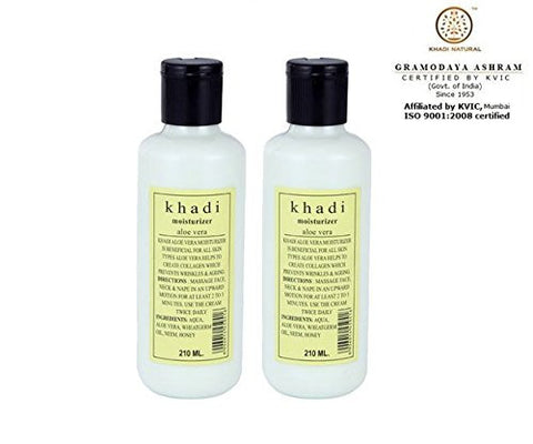 2 x Khadi Aloevera Moisturizer 210 ml each (Total 420 ml) - alldesineeds