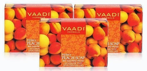 Buy Vaadi Herbals Perky Peach Soap 6x75g online for USD 20.78 at alldesineeds
