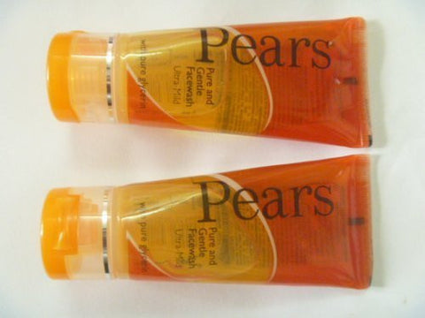 2 X Pears Pure & Gentle Soap-free Face Wash W/t Glycerine Milk Proteins 60g X 2