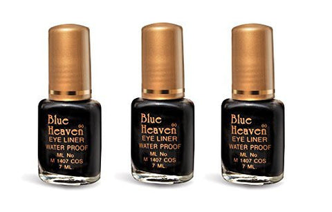 Blue Heaven Regular Eyeliner(Set of 3) 21 ml(Black) - alldesineeds