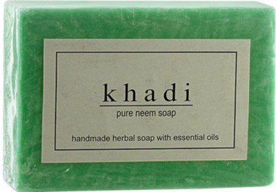 3 Pack Khadi Pure Neem Soap 125 gms each (total of 375 gms) - alldesineeds
