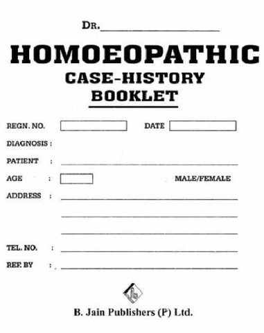 Buy Homeopathic Case History Booklet [Paperback] [Jun 30, 2000] B. Jain online for USD 8.36 at alldesineeds