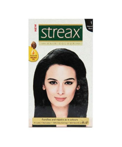 Buy 3 Pack Streax Natural Black Hair Colour No.1, 50ml each online for USD 11.45 at alldesineeds