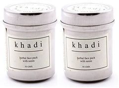 Buy Khadi Neem Face Pack Powder (Pack of 2) (Total wt 100 g) online for USD 15.44 at alldesineeds