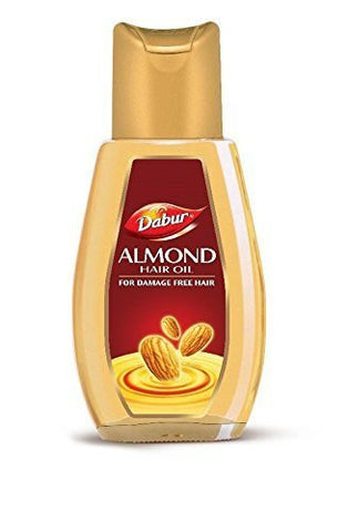 DABUR ALMOND HAIR OIL FOR DAMAGE FREE HAIR 50ML  x 2 ( 100 ml) - alldesineeds