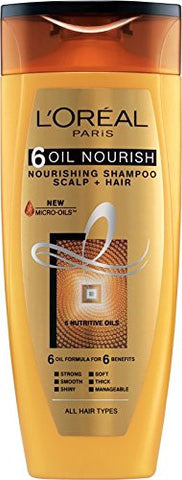 Buy L'Oreal Paris 6 Oil Nourish Shampoo Scalp and Hair , 175ml online for USD 9.68 at alldesineeds