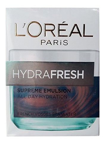 Buy L'Oreal Paris Hydrafresh Supreme Emulsion, 50ml online for USD 14.52 at alldesineeds
