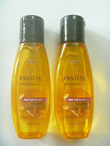 2 X Pantene Pro-v Pro Vitamin Hair Fall Control Hair Oil Non Sticky Almond