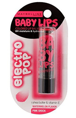Buy 2 Pack Maybelline New York Baby Lips Electro, Pink Shock, 3.5gms each online for USD 10.2 at alldesineeds