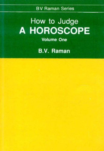 Buy How to Judge a Horoscope: v. 1 [Paperback] [Jan 01, 2003] Raman, Bangalore online for USD 17.49 at alldesineeds