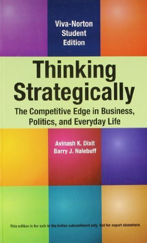 Buy Thinking Strategically: The Competitive Edge in Business, Politics, and Everyday life online for USD 24.03 at alldesineeds