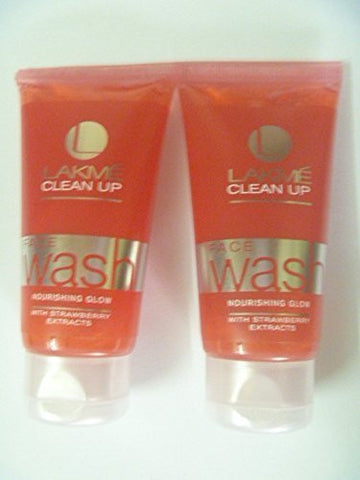 2 X Lakme Clean up Face Wash with Strawberry Extracts Face Wash 50g X 2 = 100gm