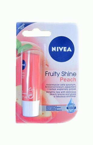 Buy 2 Pack Nivea Fruity Shine Peach Lip Balm, 4.8gms each online for USD 9.99 at alldesineeds