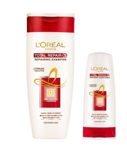 Buy L'Oreal Paris Damaged Hair Total Repair 5 Shampoo, 175ml online for USD 10.38 at alldesineeds