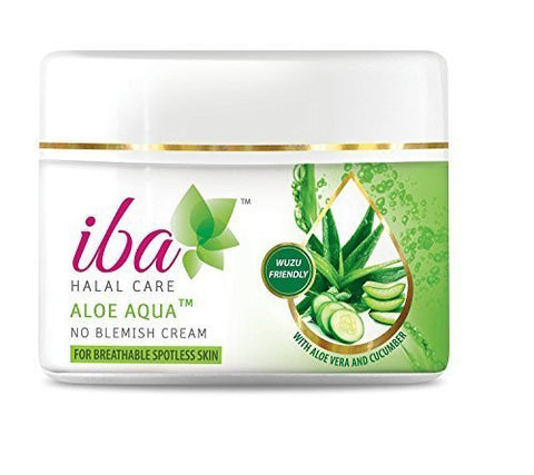 Buy Pack of 2 Iba Halal Care Aloe Aqua No Blemish Cream, 50gms each (Total 100 gms) online for USD 11 at alldesineeds