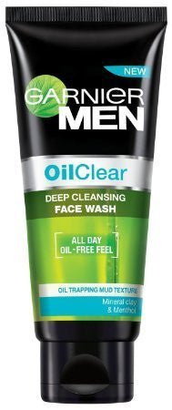 Buy 2 Pack of Garnier Men Oil Clear Face Wash, 100gms (Total 200 gms) online for USD 18.37 at alldesineeds