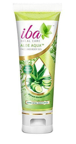 Buy Iba Halal Care Aloe Aqua Face and Body Gel, 100gms (Pack of 2) online for USD 13.45 at alldesineeds