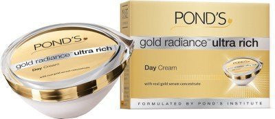 Buy 2 X Pond's Gold Radiance Ultra Rich Day Cream 50 gms each online for USD 69.8 at alldesineeds