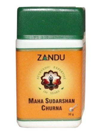 Buy Pack of 5 Zandu Maha Sudarshan Churna 30 gms (Total 150 gms) online for USD 17.98 at alldesineeds
