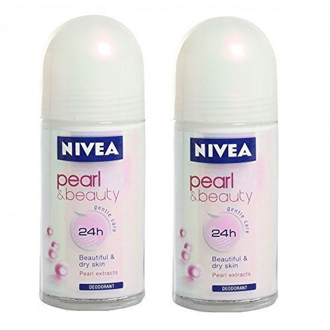 Buy 2 X Nivea Pearl Beauty Roll On for Women- 50ml each online for USD 32.72 at alldesineeds