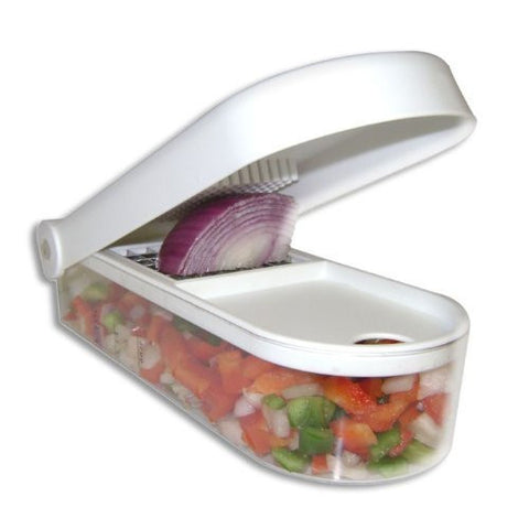 Buy Vegetable, Fruit Chopper Cutter With Chop Blade & Cleaning Tool online for USD 19.36 at alldesineeds