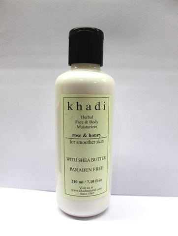 2 X Khadi Rose & Honey Moisturizer with Sheabutter,210ml each - alldesineeds