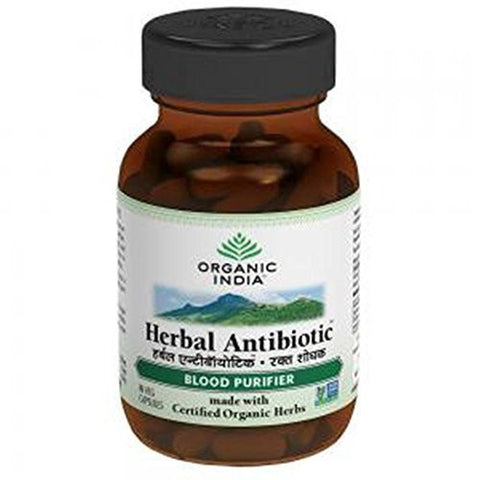 Buy Organic India Herbal Antibiotic 60 Capsules Bottle X 2 (2Pack) online for USD 17.13 at alldesineeds