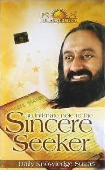 AN INTIMATE NOTE TO THE SINCERE SEEKER - SRI SRI Ravi Shankar - Book - alldesineeds