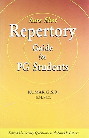 Buy Sure Shot Repertory Guide for P.G. Students [Paperback] [Jul 01, 2005] G. S. online for USD 17.22 at alldesineeds