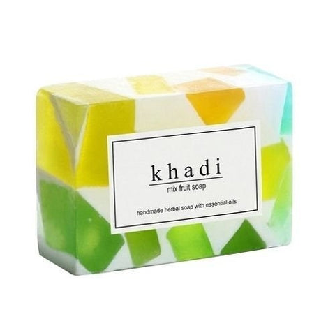 3 Pack Khadi Mix Fruit Soap 125 gms each (total of 375 gms) - alldesineeds