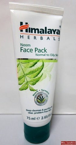 2 X Himalaya Neem Face Pack for Clean, Clear and Healthy Complexion 50g
