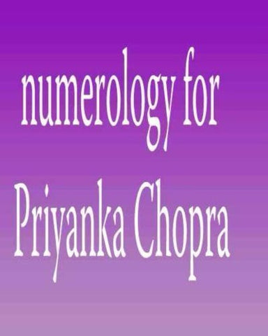 Buy Numerology for Priyanka Chopra [Paperback] [Sep 01, 2012] Peterson, Ed online for USD 19.84 at alldesineeds