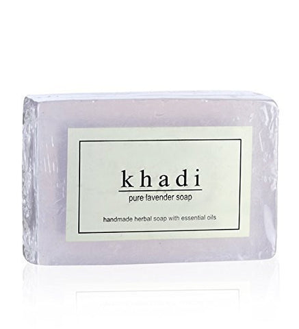 3 Pack Khadi Pure Lavender Soap 125 gms each (total of 375 gms) - alldesineeds