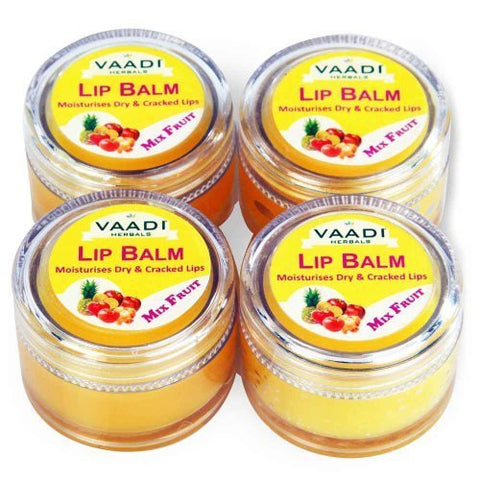 Buy Vaadi Herbals Lip Balm Mix Fruit 4x10g online for USD 13.85 at alldesineeds