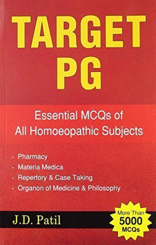 Buy Target PG - Essential MCQs of all Homeopathic Subjects (more than 5000 MCQs) online for USD 26.48 at alldesineeds