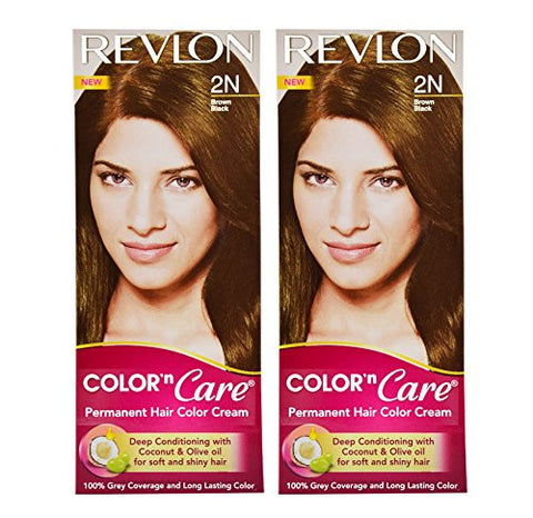 Buy Revlon Combo of Color N Care Hair Color - Brown Black 2N online for USD 13.77 at alldesineeds