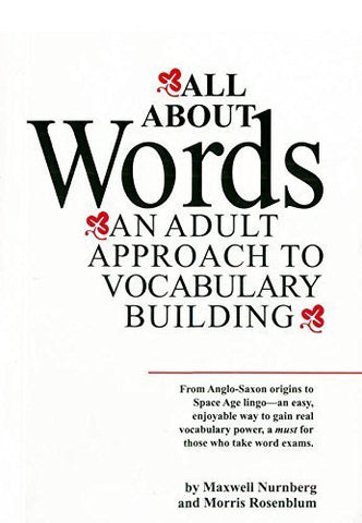 Buy All about Words ; An Adult Approach to Vocabulary Building [Paperback] online for USD 16.19 at alldesineeds