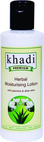 Khadi Premium Herbal Moisturising Lotion with Jasmine and Aloe Vera, 210ml - alldesineeds