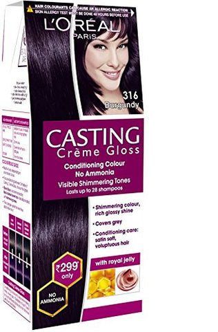 Buy 2 Pack Loreal Paris Casting Creme Gloss Shade, Burgundy, 45g each online for USD 15.5 at alldesineeds
