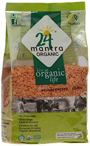 Buy 24 Letter Mantra Organic Masoor Dal 500 gms online for USD 20.24 at alldesineeds