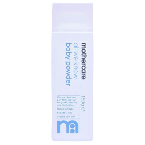Mothercare All We Know Baby Powder 150g e - Pack of 1, 150Gms - alldesineeds