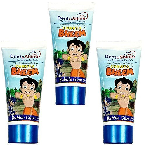 """Chhota Bheem"" Dento Shine Gel Toothpaste For Kids - Pack Of 3 X 80 gms each ... - alldesineeds"