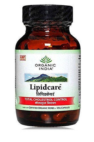 Buy 3 Pack Organic India Lipidcare 60 Capsules Bottle (Total 180 Capsules) online for USD 30.75 at alldesineeds