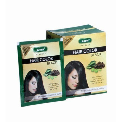 Baksons Herbal Hair Color Black Pack Of 12 - alldesineeds