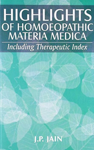 Buy Highlights of Homoeopathic Materia Medica [Paperback] [Jun 29, 1997] J. P. Jain online for USD 19.94 at alldesineeds